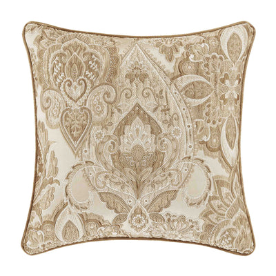 "Sandstone Beige Square Decorative Throw Pillow 20"" x 20""- Throw Pillows By J. Queen New York"