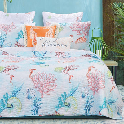 Sarasota Multi 3-Piece Quilt Set Quilt Sets By Greenland Home Fashions