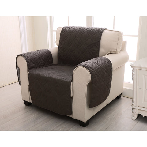 Slipcovers Saratoga Chocolate Furniture Protector Arm Chair Latest Bedding