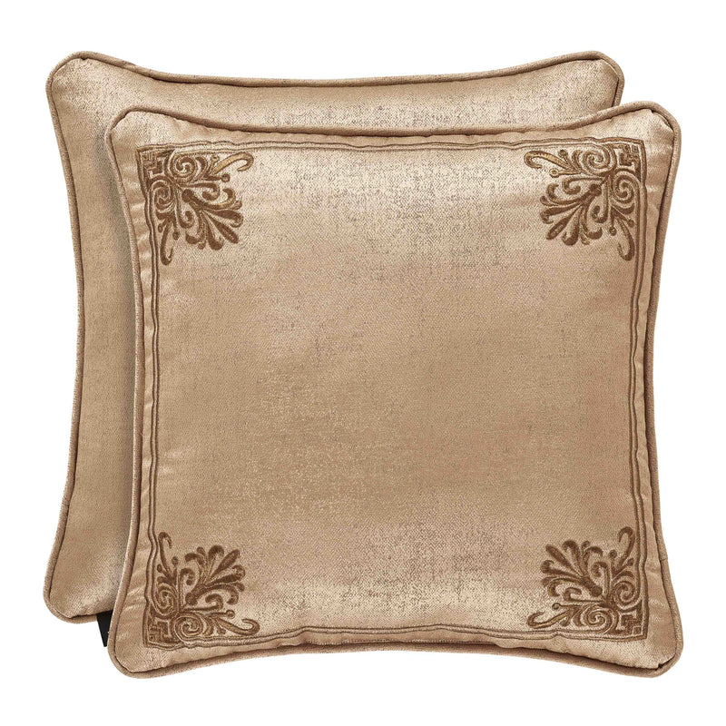 "Sardinia Gold Square Decorative Throw Pillow 18"" x 18"" [Luxury comforter Sets] [by Latest Bedding]"