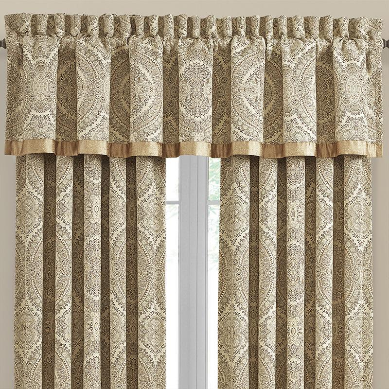 Valance Sardinia Gold Straight Window Valance [Luxury comforter Sets) ( by Latest Bedding)]