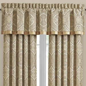 Sardinia Gold Straight Window Valance [Luxury comforter Sets] [by Latest Bedding]