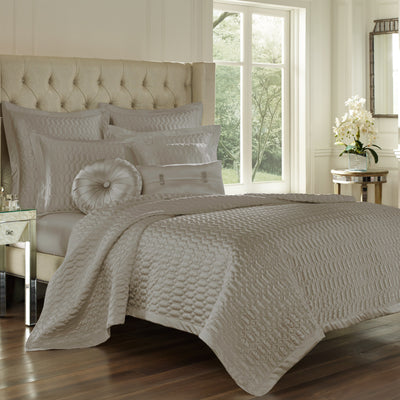 Satinique Silver Coverlet [Luxury comforter Sets] [by Latest Bedding]