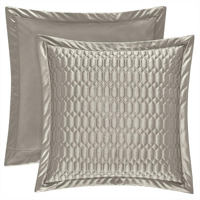 Satinique Silver Euro Sham [Luxury comforter Sets] [by Latest Bedding]