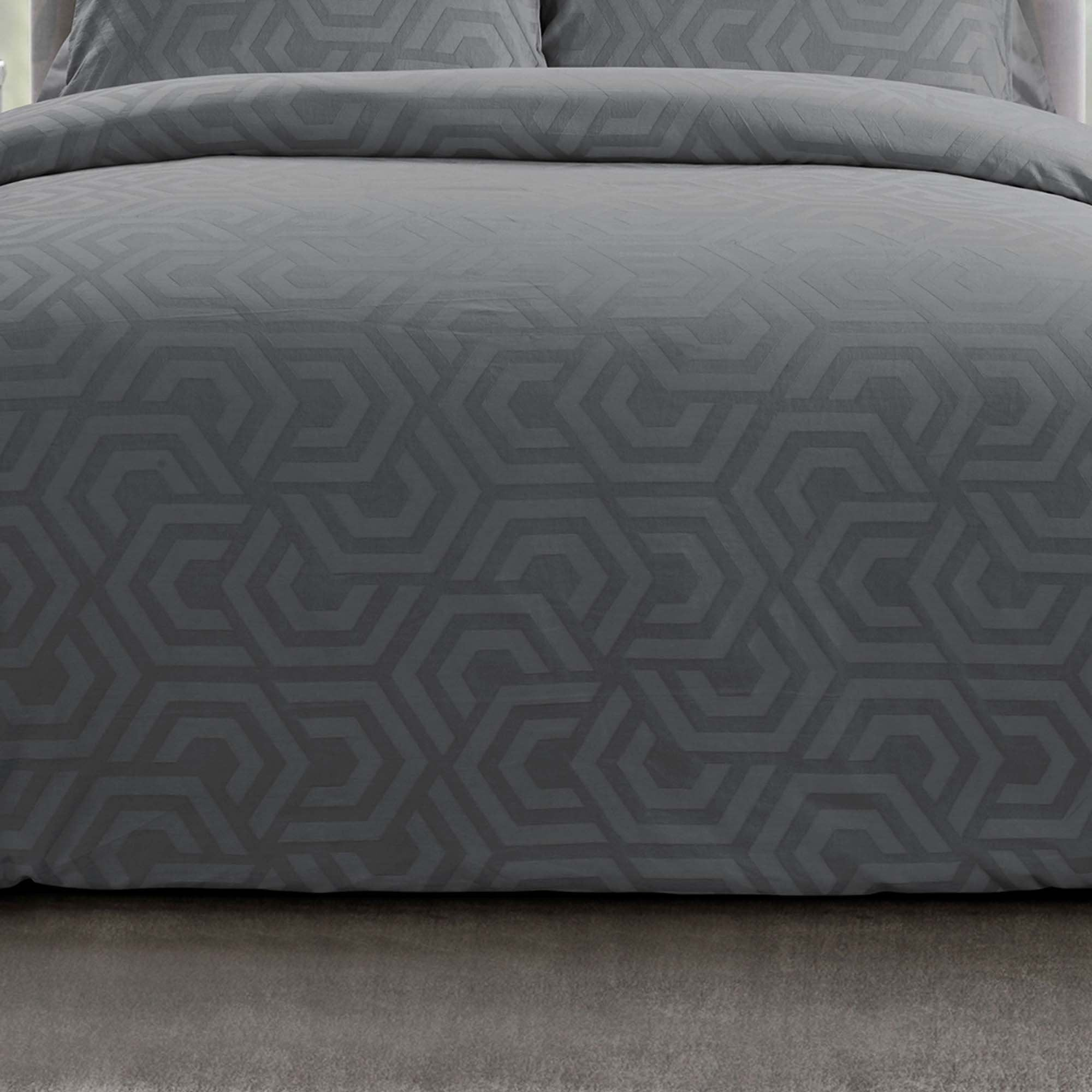 Seville Grey 3-Piece Comforter Set [Luxury comforter Sets] [by Latest Bedding]
