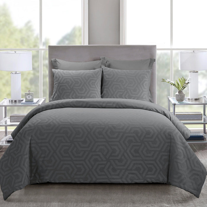 Seville Grey 3-Piece Comforter Set