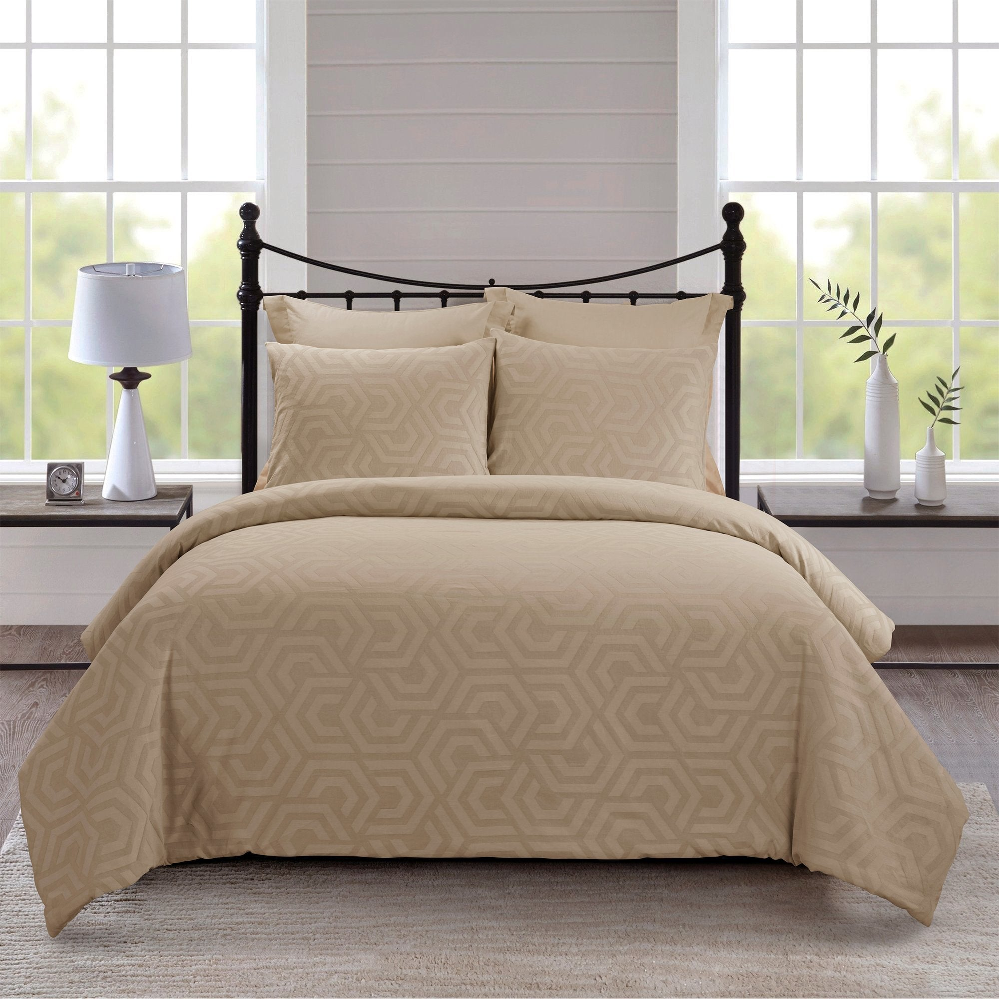 Seville Sand 3 Piece Comforter Set [Luxury comforter Sets] [by Latest Bedding]