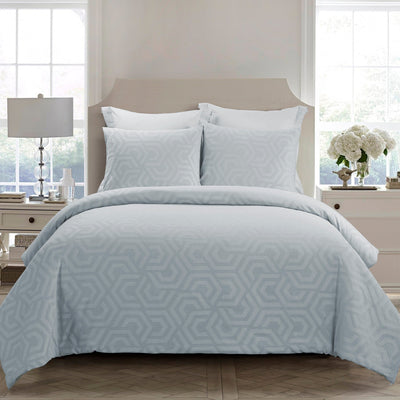 Seville Soft Blue 3-Piece Comforter Set [Luxury comforter Sets] [by Latest Bedding]