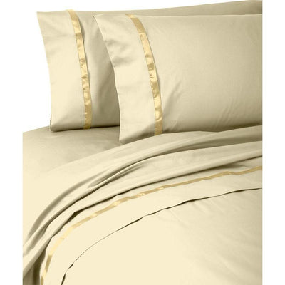 Kiley Wheat 4-Piece Sheet Set [Luxury comforter Sets] [by Latest Bedding]