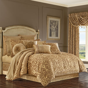Sicily Gold 4-Piece Comforter Set [Luxury comforter Sets] [by Latest Bedding]
