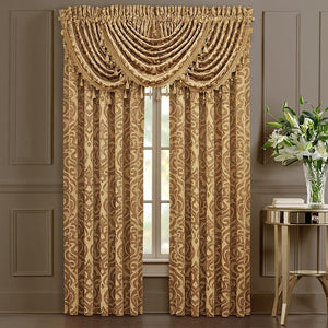 Sicily Gold Window Panel Pair [Luxury comforter Sets] [by Latest Bedding]