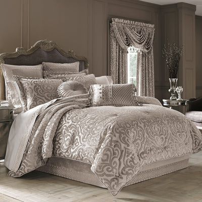 Sicily Pearl 4-Piece Comforter Set [Luxury comforter Sets] [by Latest Bedding]