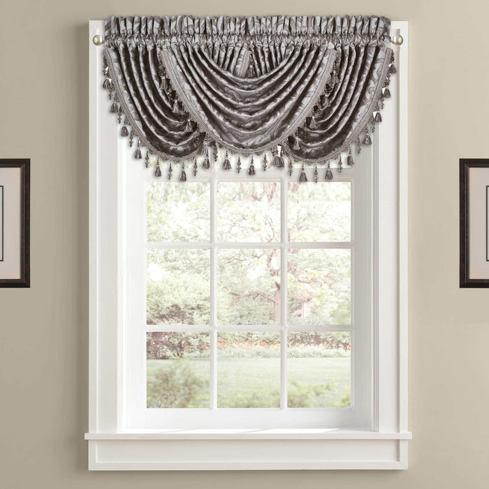 Sicily Pearl Waterfall Window Valance-