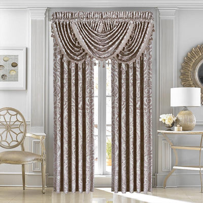 Sicily Pearl Window Panel Pair [Luxury comforter Sets] [by Latest Bedding]