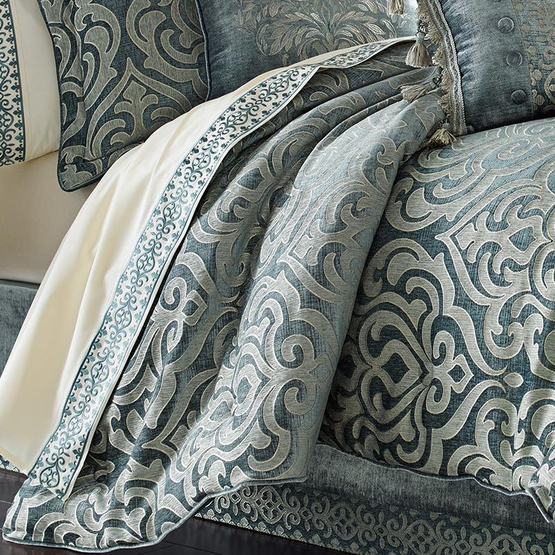Sicily Teal 4-Piece Comforter Set [Luxury comforter Sets] [by Latest Bedding]