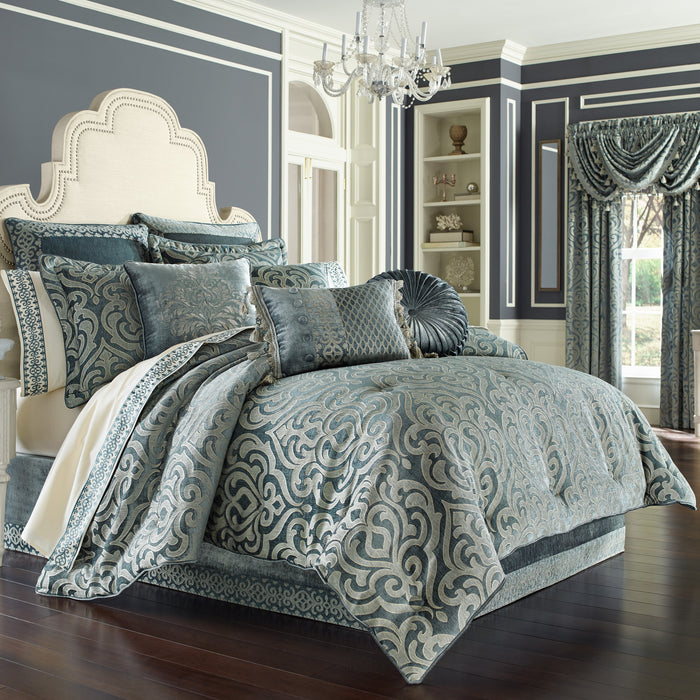 Sicily Teal 4-Piece Comforter Set
