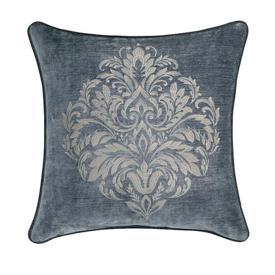 "Sicily Teal Square Embellished Decorative Throw Pillow 20"" x 20"" [Luxury comforter Sets] [by Latest Bedding]"