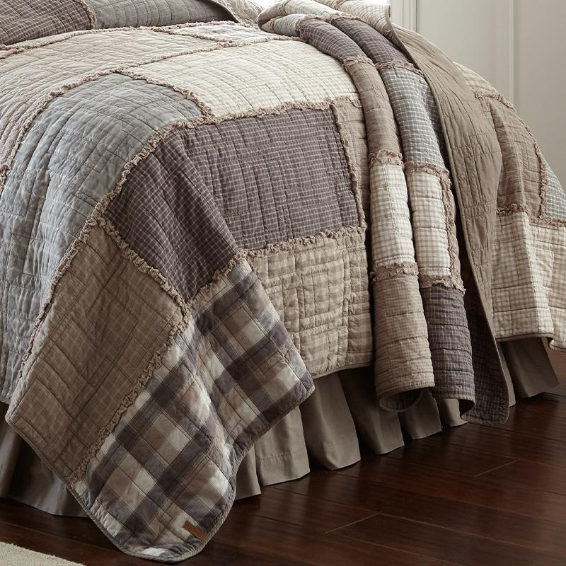 Smoky Cobblestone 3-Piece Cotton Quilt Set Quilt Sets By Donna Sharp