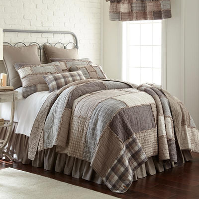 Smoky Cobblestone 3-Piece Cotton Quilt Set [Luxury comforter Sets] [by Latest Bedding]