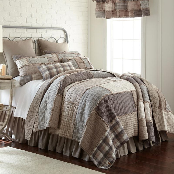 Smoky Cobblestone 3-Piece Cotton Quilt Set