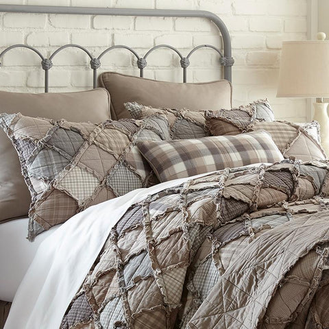 Quilt Sets Smoky Mountain 3-Piece Cotton Quilt Set [Luxury comforter Sets) ( by Latest Bedding)]