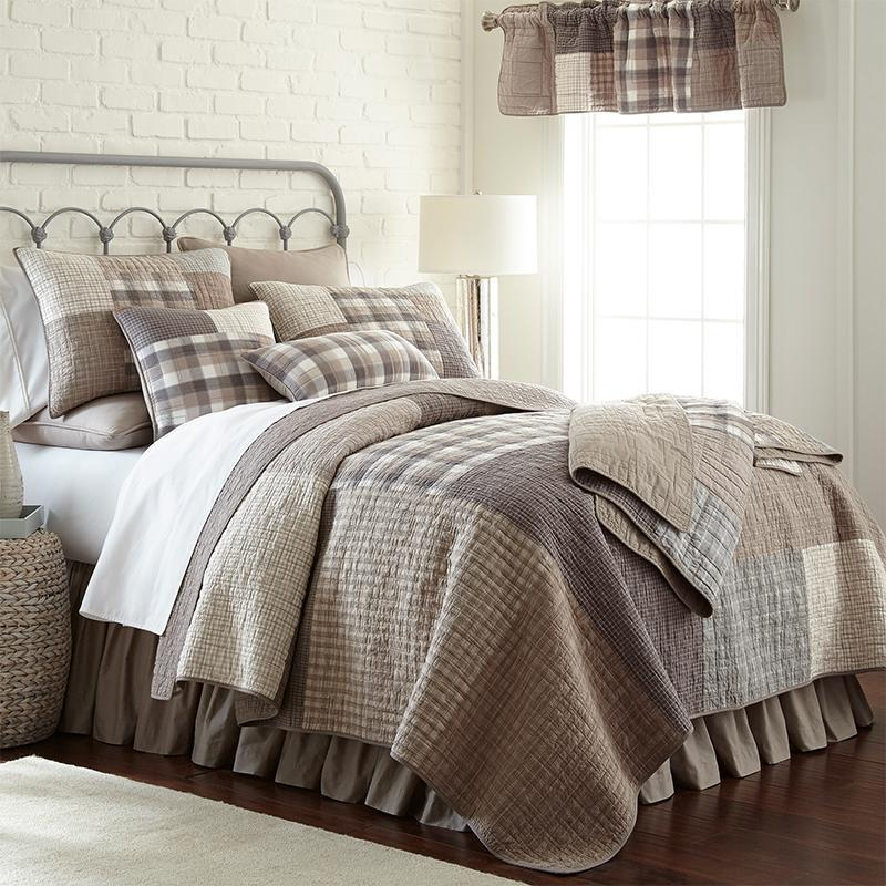Smoky Square 3-Piece Cotton Quilt Set [Luxury comforter Sets] [by Latest Bedding]