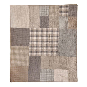 Smoky Square Throw [Luxury comforter Sets] [by Latest Bedding]
