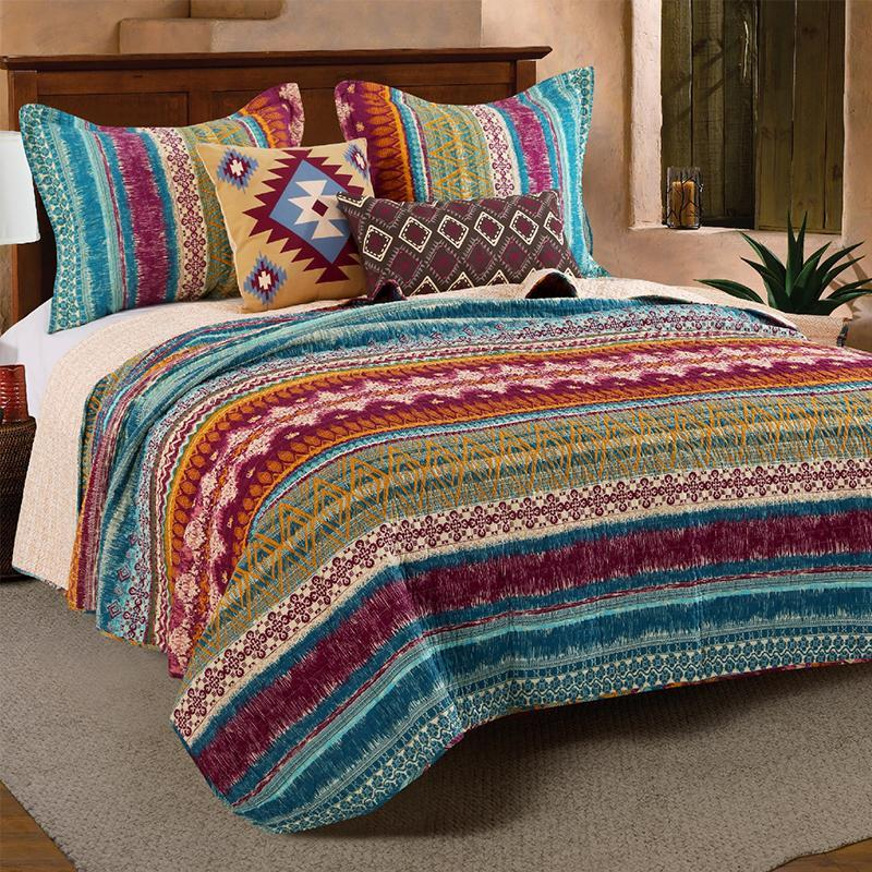 Quilt Sets Southwest Multi 5-Piece Bonus Quilt Set Latest Bedding
