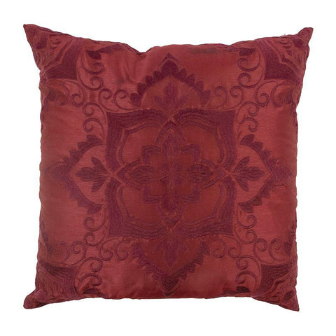 Spice Postage Stamp Burgundy Rectangular Decorative Pillow [Luxury comforter Sets] [by Latest Bedding]