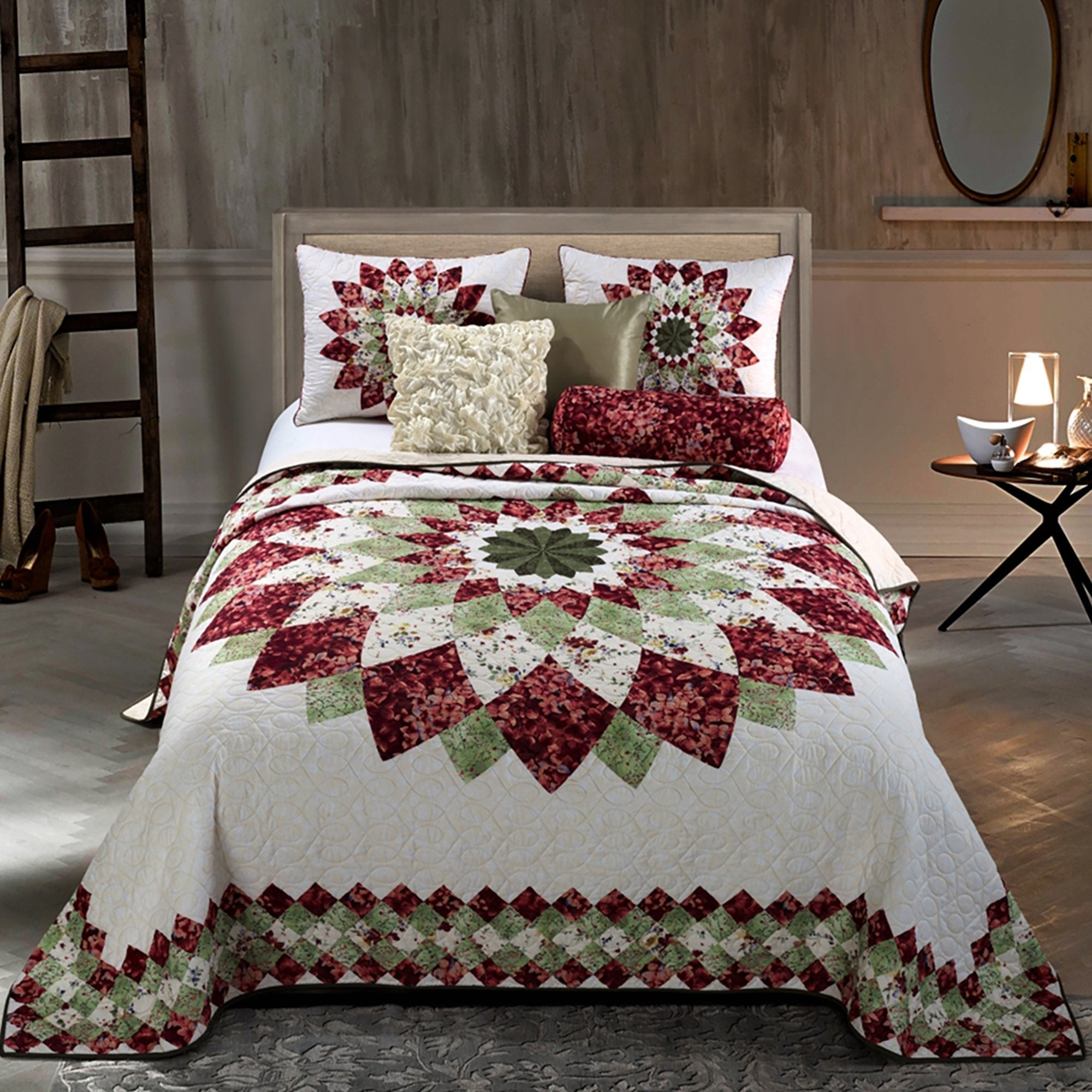 Springfield Dahlia Quilt [Luxury comforter Sets] [by Latest Bedding]