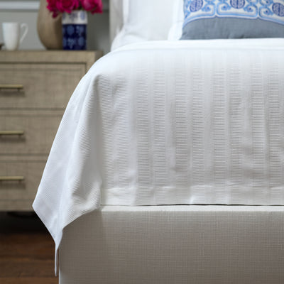 Stela White Cotton Matelasse Blanket [Luxury comforter Sets] [by Latest Bedding]