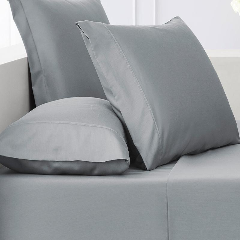 Sullivan Solid Blue Haze 4-Piece Sheet Set Sheet Set By Waterford