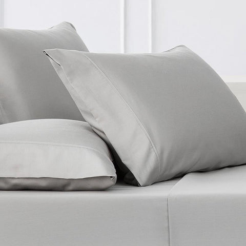 Sullivan Solid Dove 4-Piece Sheet Set [Luxury comforter Sets] [by Latest Bedding]