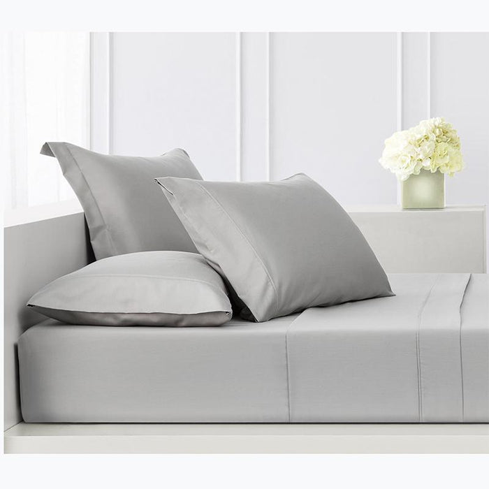 Sullivan Solid Dove 4-Piece Sheet Set