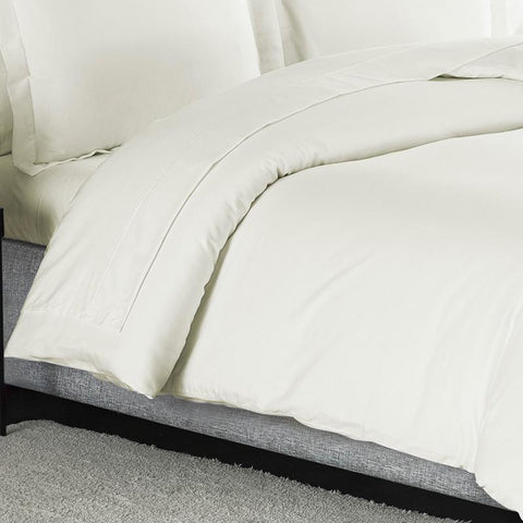 Sullivan Solid Ivory 3-Piece Duvet Set [Luxury comforter Sets] [by Latest Bedding]