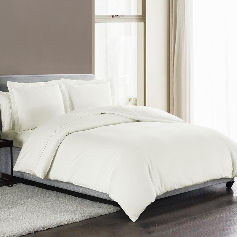 Sullivan Solid Ivory 3-Piece Duvet Cover Set [Luxury comforter Sets] [by Latest Bedding]