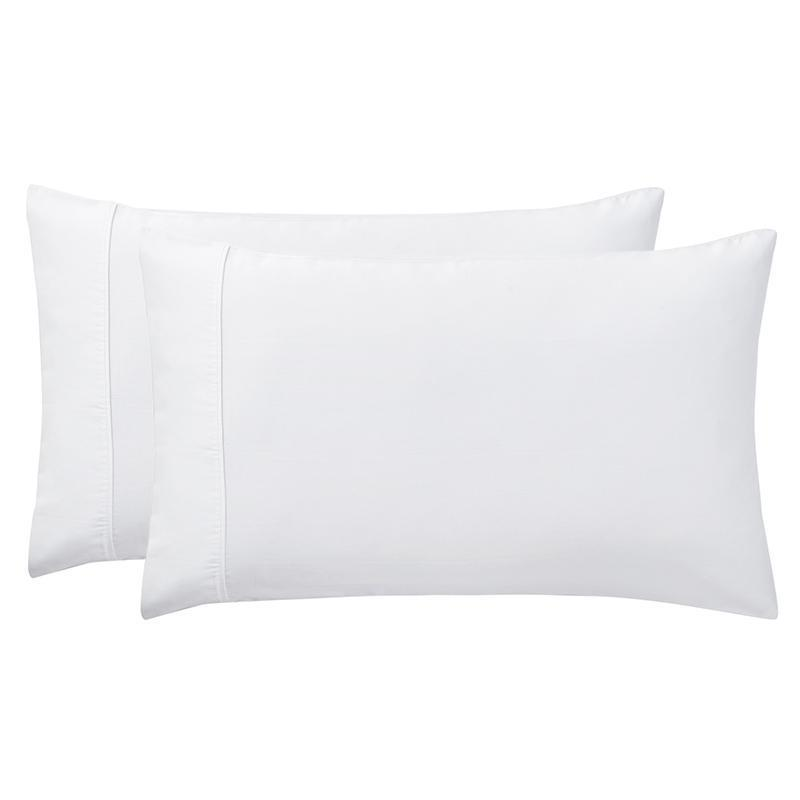 Sullivan Solid White 400 Thread Count 2-Piece Pillowcase Set [Luxury comforter Sets] [by Latest Bedding]