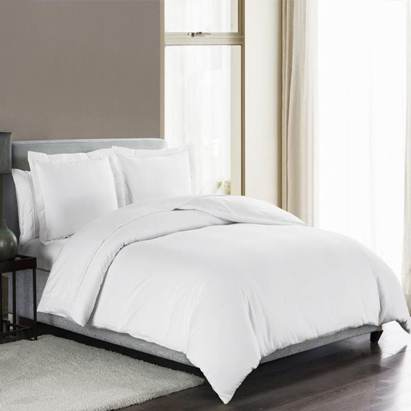 Sullivan Solid White 3-Piece Duvet Set [Luxury comforter Sets] [by Latest Bedding]