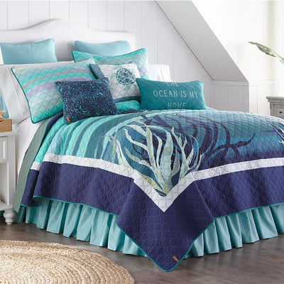 Summer Surf 3-Piece Cotton Quilt Set Quilt Sets By Donna Sharp