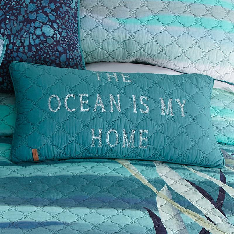 Summer Surf Rectangle Decorative Pillow [Luxury comforter Sets] [by Latest Bedding]