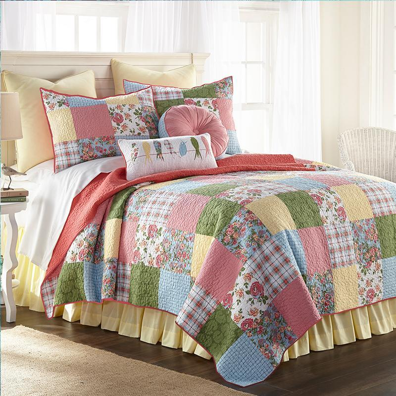 Sunny Patch 3-Piece Cotton Quilt Set [Luxury comforter Sets] [by Latest Bedding]