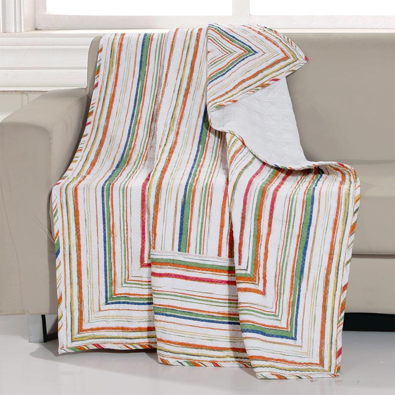 Throws Sunset Stripe Multi Throw Latest Bedding