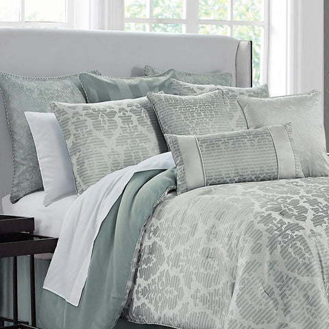 Surrey Steel 4 Piece Comforter Set [Luxury comforter Sets] [by Latest Bedding]