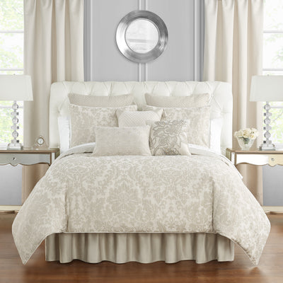 Sutherland Ivory 4-Piece Comforter Set Comforter Sets By Waterford