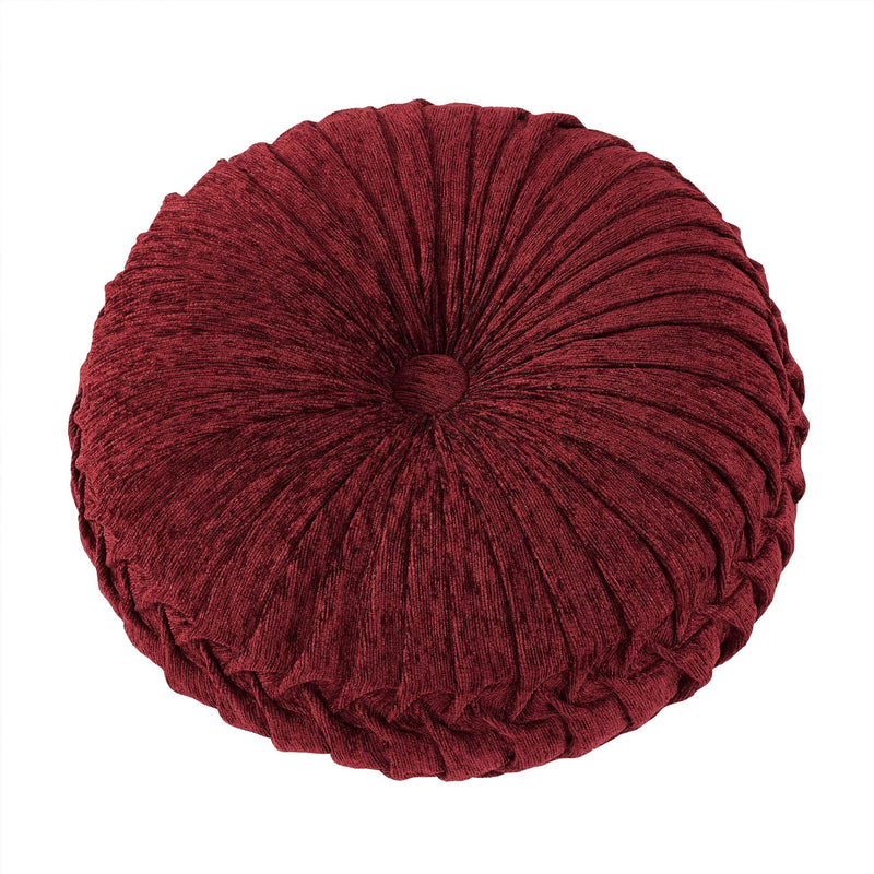 "Taormina Red Round Throw Pillow 15"" X 15"" [Luxury comforter Sets] [by Latest Bedding]"