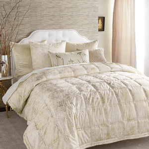 Textured Ivory Quilt - Michael Aram [Luxury comforter Sets] [by Latest Bedding]