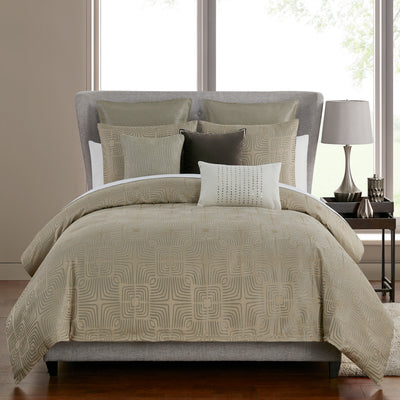 Theo Taupe 3-Piece Comforter Set [Luxury comforter Sets] [by Latest Bedding]