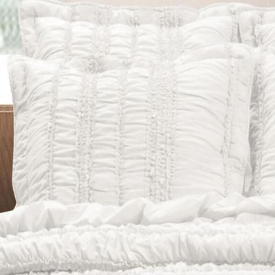 Tiana White Sham [Luxury comforter Sets] [by Latest Bedding]