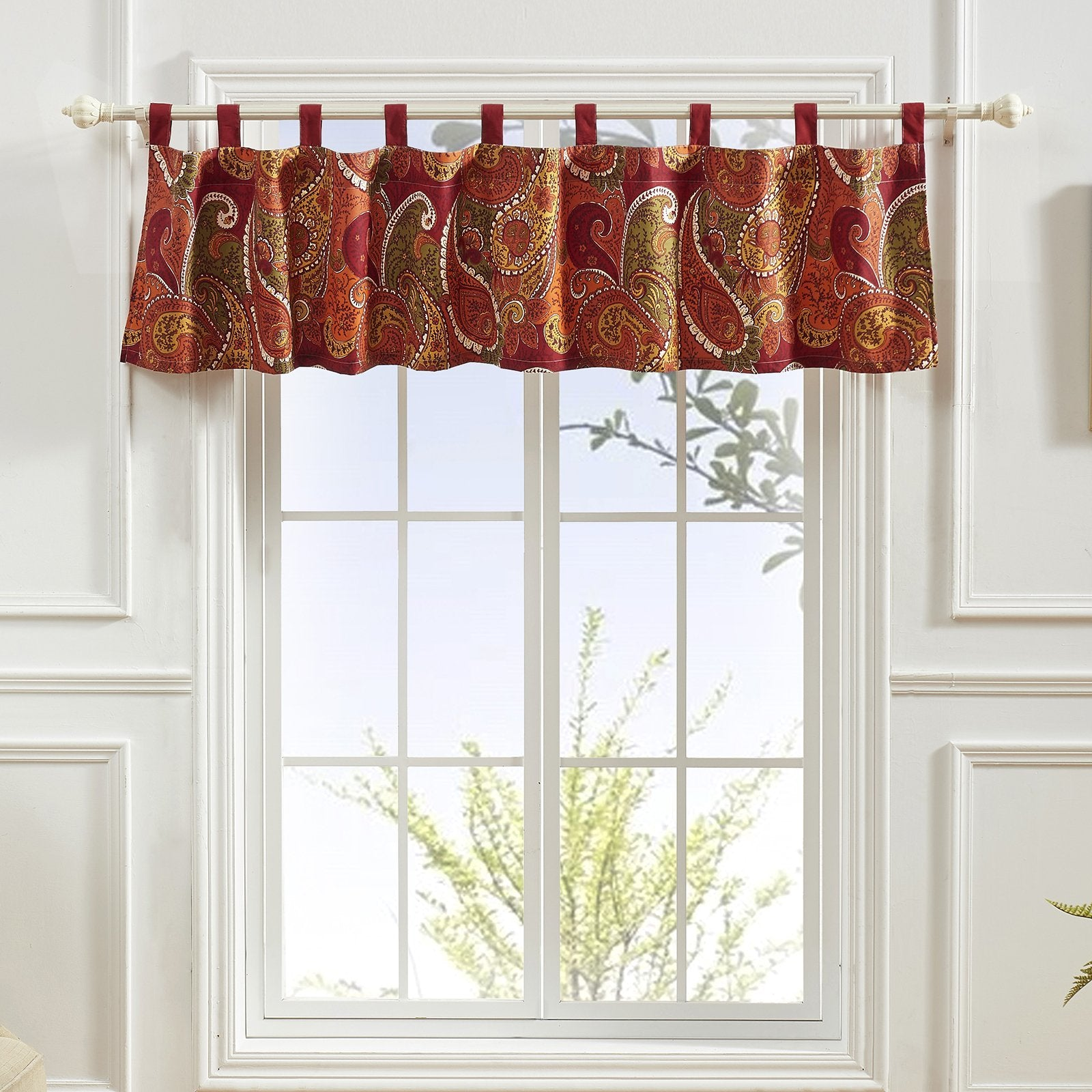 Tivoli Cinnamon Window Valance [Luxury comforter Sets] [by Latest Bedding]