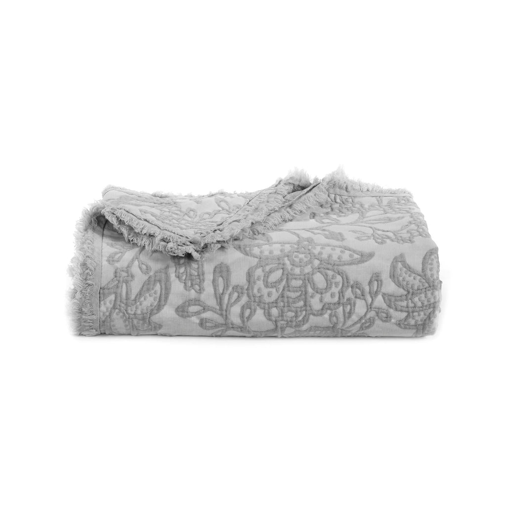Toile Grey Throw [Luxury comforter Sets] [by Latest Bedding]